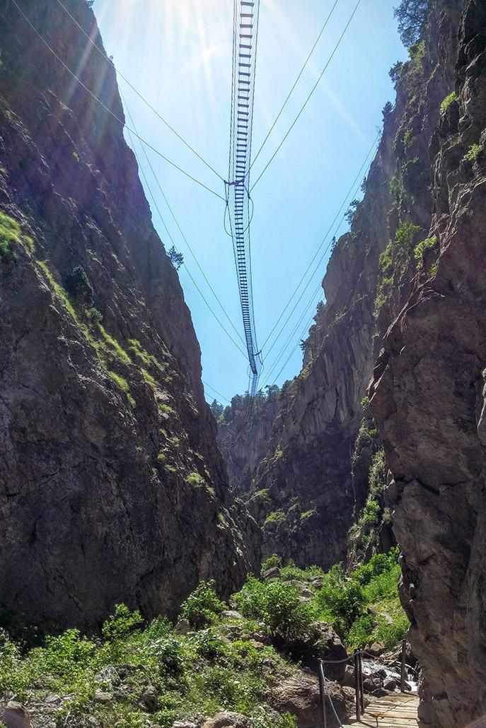 Il ponte Tibetano di Cesana Torinese
